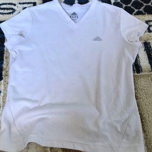 Adidas White Exercise T-Shirt